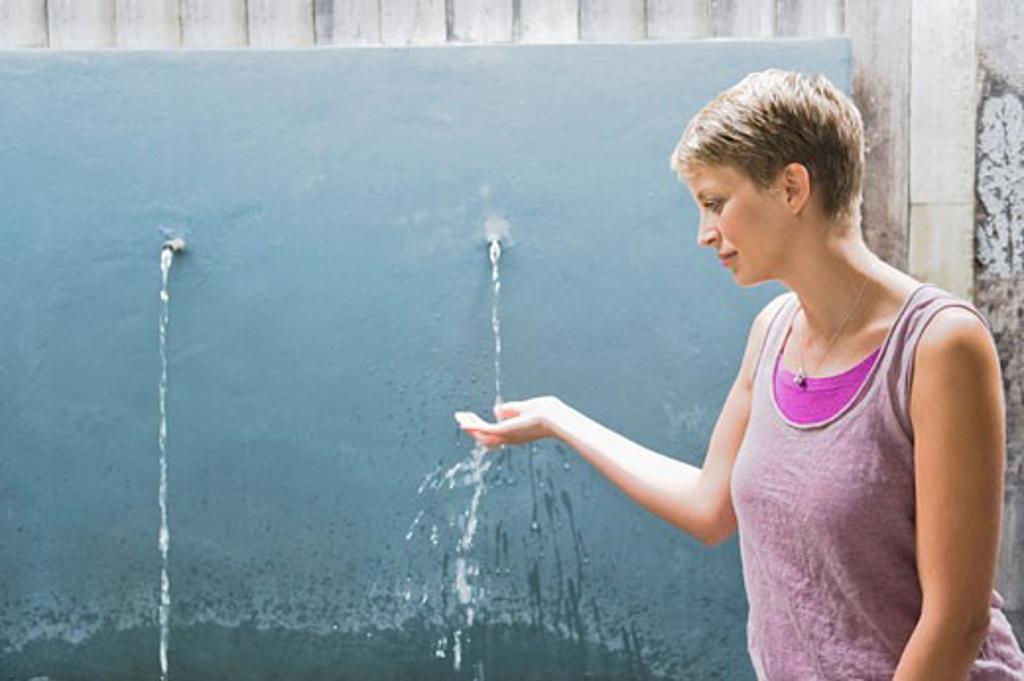 Stock Photo: 1738R-16915 Woman washing hands