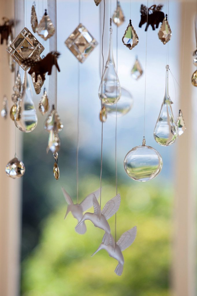 Close_up of a wind chime : Stock Photo