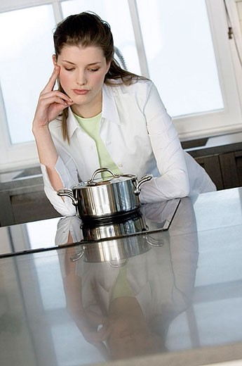 Stock Photo: 1738R-2461 Woman cooking