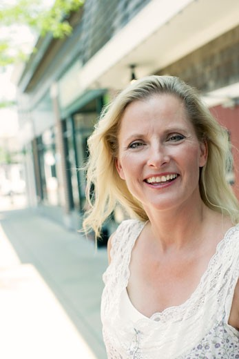 Stock Photo: 1741R-10205 Portrait of a mature woman smiling