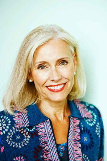 Stock Photo: 1741R-4903 Portrait of a mature woman smiling