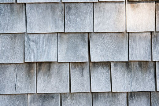 Close-up of wooden roof tiles : Stock Photo
