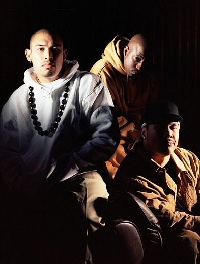 Portrait of young African American men, studio shot. : Stock Photo