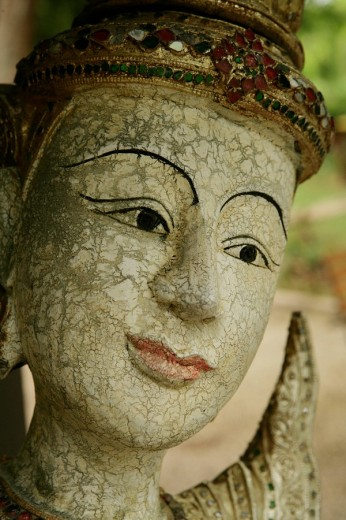 Close_up of an idol. : Stock Photo