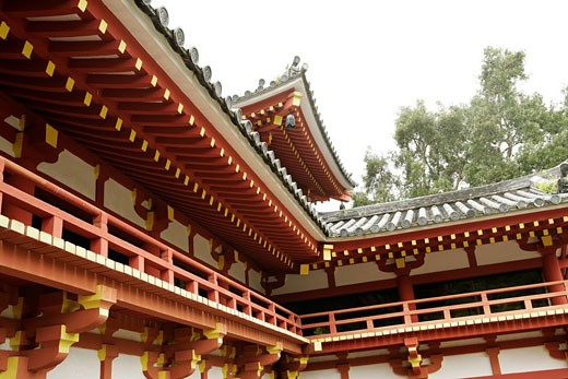 View of a section of a temple. : Stock Photo