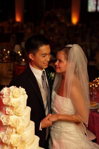 Newlywed couple : Stock Photo