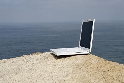 View of a laptop. : Stock Photo