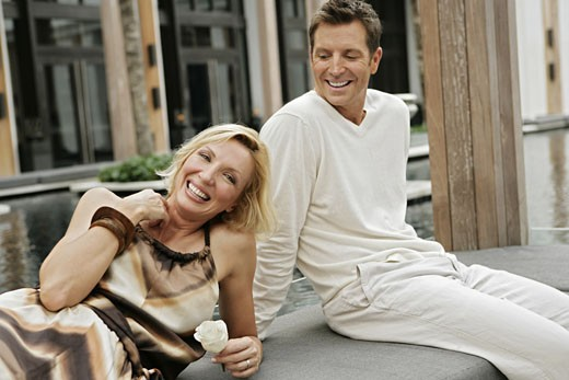 Stock Photo: 1742R-2911 View of a happily couple.