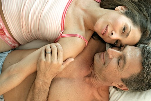 View of a couple in an intimate mood. : Stock Photo