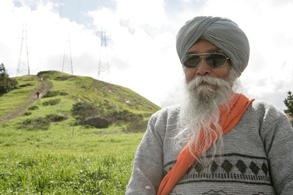 Man wearing a turban in a field : Stock Photo