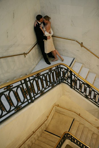 Stock Photo: 1742R-4784 Couple on a staircase
