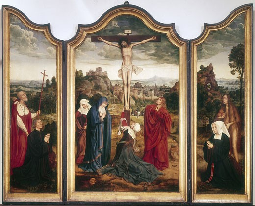 Stock Photo: 1746-1066 Triptych of the Crucifixion Quinten Metsys I (1465 6-1530 Flemish)