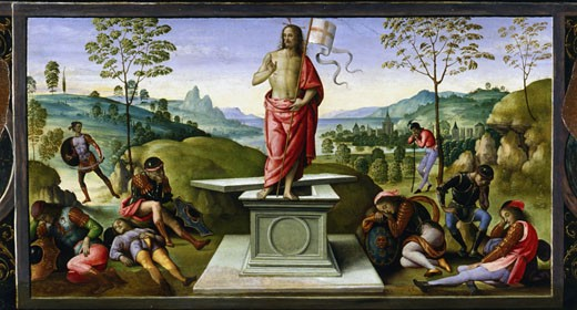 Stock Photo: 1746-1116 Resurrection of Christ 1495 Pietro Perugino (ca.1450-1523 Italian) Musee des Beaux Arts, Rouen