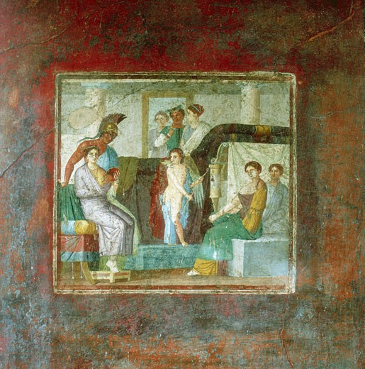 Marriage of Mars and Aphrodite 1st century AD. House of Lucretius Fronto, Pompeii Fresco  : Stock Photo