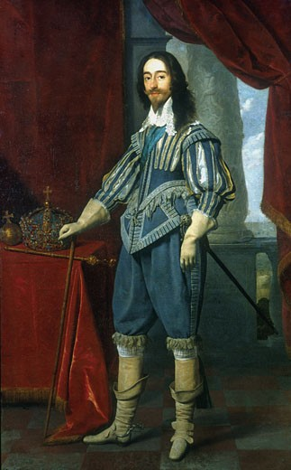 Charles I (1600-1649), King of Great Britain, 1631, Daniel Mytens the Elder, (ca, 1590-bef, 1648/Dutch) : Stock Photo