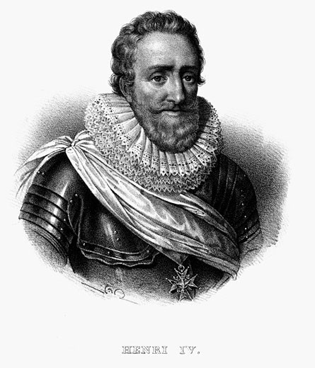 Stock Photo: 1746-1367 Henry IV (1553-1610) King of Navarre (1572) King of France 1589. Lithograph c1820