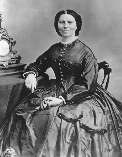 Stock Photo: 1746-1543 Clara Barton, (1821-1912), founder of the American branch of the Red Cross (1881) and its first president (1881-1904). Photograph