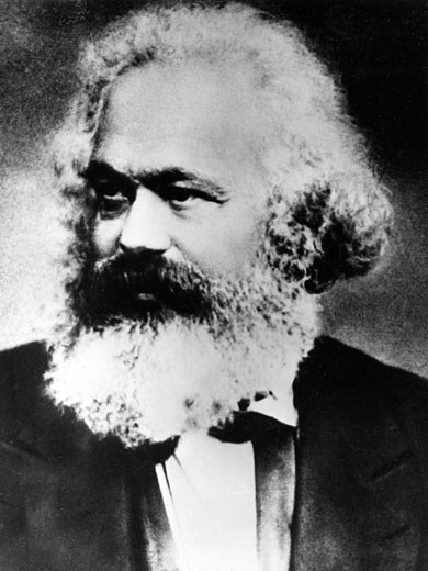 Stock Photo: 1746-1599 Karl Marx, (1818-1883), Father of modern Communism, German political, social and economic theorist. From a photograph