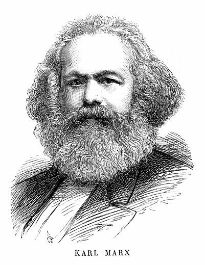 Stock Photo: 1746-1600 Karl Marx (1818-1883) German Philosopher & Economist Father of modern Communism Engraving