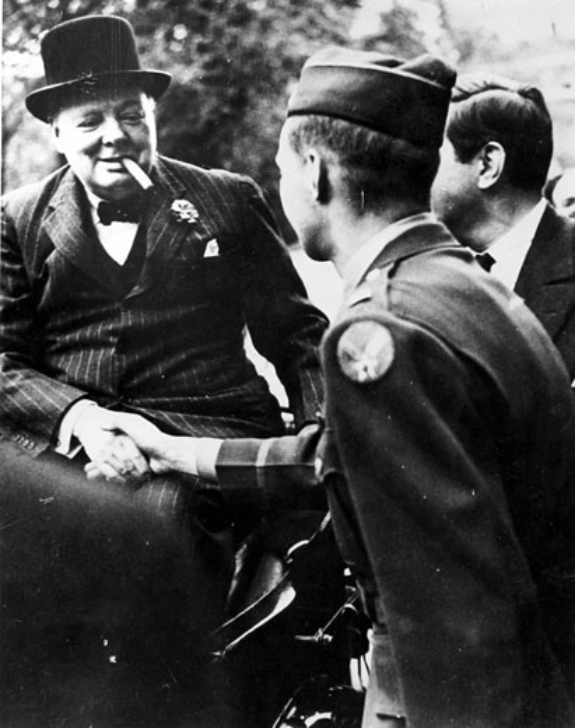 Stock Photo: 1746-1656 Winston Churchill, (1874-1965), British Prime Minister, World War II