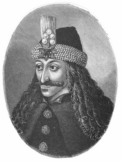 Stock Photo: 1746-1697 Vlad Tepes (Vlad III the Impaler or Vlad Dracula) Prince of Wallachia. Inspiration for the Dracula of Transylvania story. Engraving