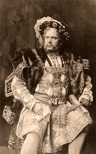Stock Photo: 1746-1751 William Charles James Terriss, (1847-1897), here as the king in the play Henry VIII by William Shakespeare, Photogravure c.1895