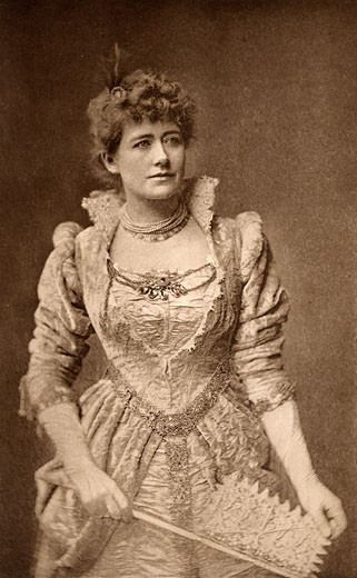 Ellen Alice Terry, (1847-1928), English actress, here as Beatrice in the comedy Much Ado About Nothing by William Shakespeare. Photogravure c.1895 : Stock Photo