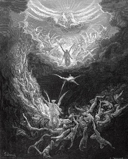 Stock Photo: 1746-2068 The Last Judgement Gustave Dore (1865-1866 French) Wood engraving