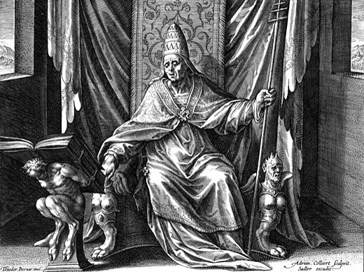 Stock Photo: 1746-2106 Gregory I, The Great (c540-604) Pope from 590. Copperplate engraving by Adrian Collaert (c1520-67)