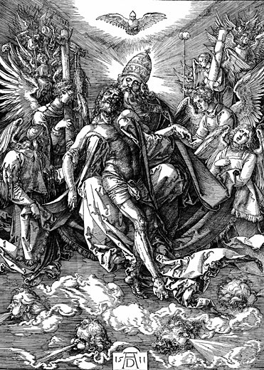 Stock Photo: 1746-2154 The Trinity (The Throne of Grace). Albrecht Durer (1471-1528 German) Woodcut, 1511