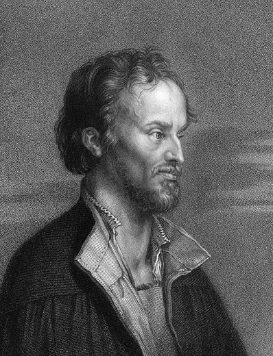 Stock Photo: 1746-2182 Philipp Melanchthon (1497-1560) German Protestant reformer 1836, Engraving after Durer