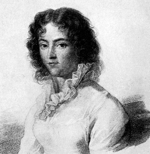 Constanza Mozart, 1783.  Wife of Wolfgang Amadeaus Mozart : Stock Photo