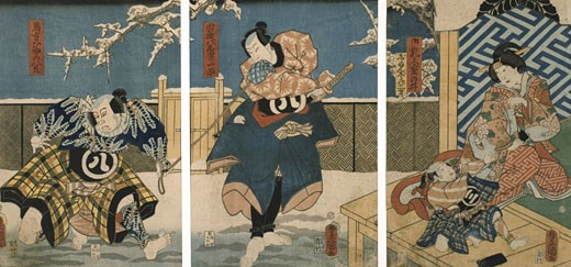Theatre Scene, Utagawa Kunisada, (1786-1864/Japanese) : Stock Photo