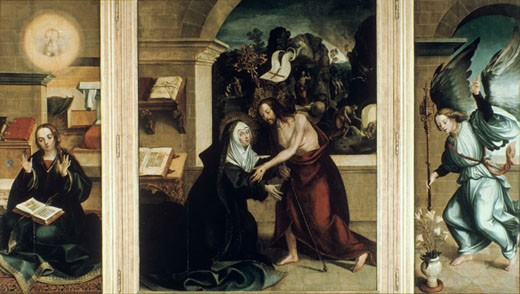 Stock Photo: 1746-2390 The Apparition of Christ to the Virgin Mary Garcia de Fernandes (active 1514-1551 Portuguese)