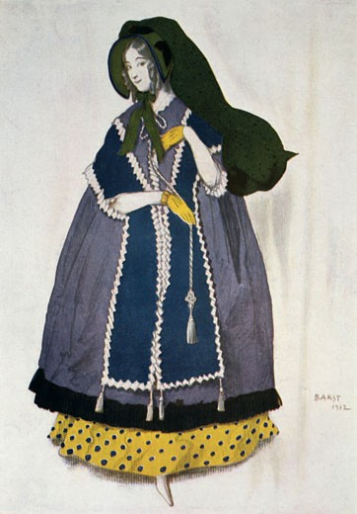 Stock Photo: 1746-2395 Costume for the ballet Les Papillions, 1912, Leon Bakst, (1866-1924/Russian)