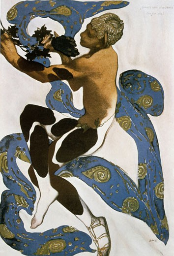 Costume for Nijinsky in L'apres Midi D'un Faune, Leon Bakst, (1866-1924/Russian) : Stock Photo