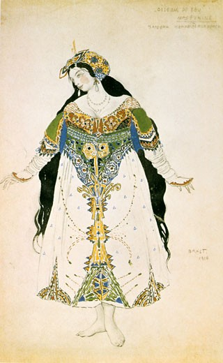 Costume for The Firebird., Leon Bakst, (1866-1924/Russian) : Stock Photo
