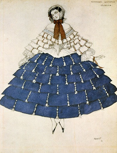 Stock Photo: 1746-2401 Costume for the ballet Carnival, music by Robert Schumann., Leon Bakst, (1866-1924/Russian)