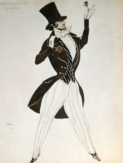 Stock Photo: 1746-2402 Costume for the ballet Carnival, music by Robert Schumann., Leon Bakst, (1866-1924/Russian)