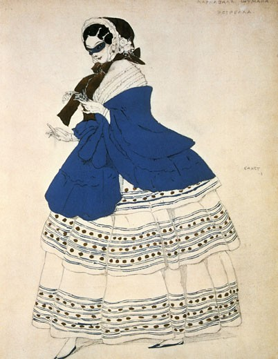 Stock Photo: 1746-2403 Costume for the ballet Carnival, music by Robert Schumann., Leon Bakst, (1866-1924/Russian)