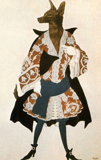 Stock Photo: 1746-2405 Costume for the ballet Sleeping Beauty by Tchaikovsky, Leon Bakst, (1866-1924/Russian)
