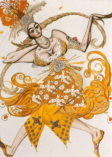 Stock Photo: 1746-2406 The Firebird by Igor Stravinsky., Leon Bakst, (1866-1924/Russian)
