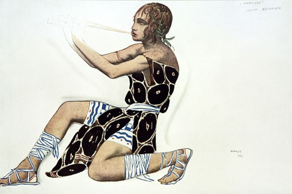 Narcisse, - Beotien, 1911., Leon Bakst, (1866-1924/Russian) : Stock Photo