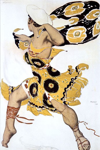 Stock Photo: 1746-2412 Narcisses  Ephebe 1911., Leon Bakst, (1866-1924/Russian)