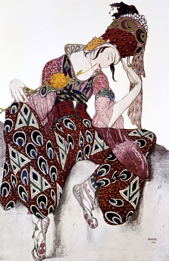 La Peri, 1911, Leon Bakst, (1866-1924/Russian) : Stock Photo