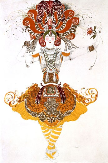 Ballet Costume for The Firebird, Leon Bakst, (1866-1924/Russian) : Stock Photo