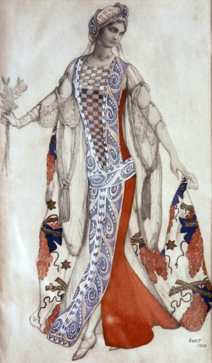 Costume for the ballet Sleeping Beauty., Leon Bakst, (1866-1924/Russian) : Stock Photo