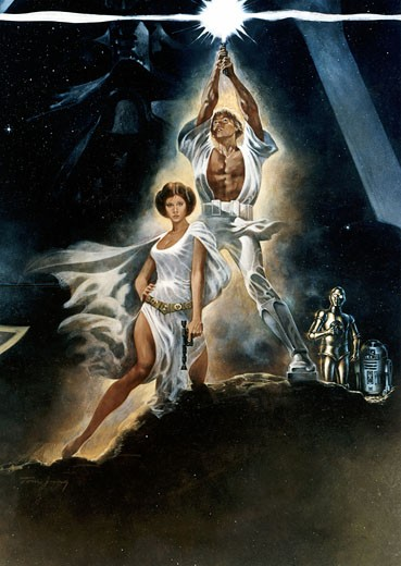 "Stock Photo: 1746-242 Poster for the film ""Star Wars"" 1977 20th Century Fox"