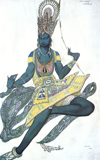 Stock Photo: 1746-2423 Costume for The Blue God, 1911, Leon Bakst, (1866-1924/Russian)