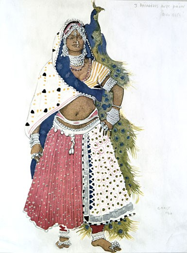 Stock Photo: 1746-2424 Costume for The Blue God, 1911., Leon Bakst, (1866-1924/Russian)